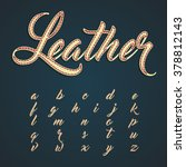 leather font lowercase... | Shutterstock .eps vector #378812143