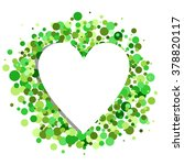 green confetti behind a white... | Shutterstock .eps vector #378820117