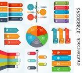 big set of infographic arrows ... | Shutterstock .eps vector #378830293