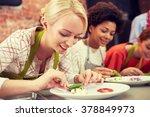 cooking class  friendship  food ...   Shutterstock . vector #378849973