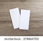 blank flyer over wooden... | Shutterstock . vector #378864703