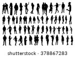 woman and man silhouettes | Shutterstock .eps vector #378867283