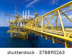 oil and gas production platform ... | Shutterstock . vector #378890263