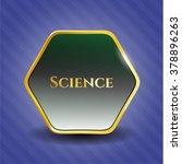 science golden badge | Shutterstock .eps vector #378896263