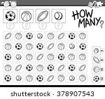 black and white cartoon vector...   Shutterstock .eps vector #378907543
