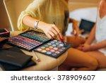 case makeup artist. a set of... | Shutterstock . vector #378909607