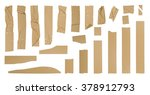 brown adhesive tape set ... | Shutterstock . vector #378912793