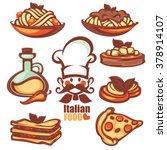 italian menu  vector collection ... | Shutterstock .eps vector #378914107