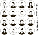 vector male and female faces... | Shutterstock .eps vector #378925273