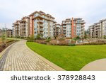 modern apartment buildings in... | Shutterstock . vector #378928843