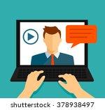 vector flat illustration of... | Shutterstock .eps vector #378938497
