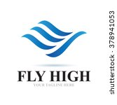 logo fly high icon element... | Shutterstock .eps vector #378941053