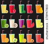 fresh juice big collection... | Shutterstock .eps vector #378947803