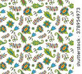 seamless floral pattern on a... | Shutterstock .eps vector #378954973