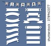 retro vintage ribbons set | Shutterstock .eps vector #378962377