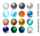 different spheres. materials... | Shutterstock .eps vector #378971323