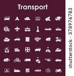 set of transport simple icons | Shutterstock .eps vector #378976783