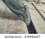 the foot of a person tripping... | Shutterstock . vector #378982657