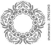 vector henna tatoo mandala.... | Shutterstock .eps vector #379011043