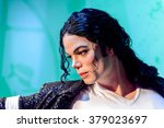 Small photo of SAN FRANCISCO, USA - OCT 5, 2015: Michael Jackson at the Madame Tussauds museum in SF. It was open on June 26, 2014