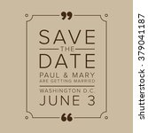 save the date  wedding... | Shutterstock .eps vector #379041187