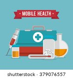 mobile health design  | Shutterstock .eps vector #379076557