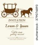 wedding invitation design    Shutterstock .eps vector #379076893