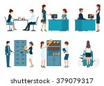 office worker  office people... | Shutterstock .eps vector #379079317