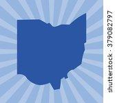 ohio map. logo vector. | Shutterstock .eps vector #379082797