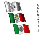 flag of mexico   illustration   ... | Shutterstock .eps vector #379091503