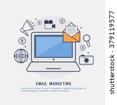 email marketing concept with... | Shutterstock .eps vector #379119577