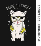 cutie  fashion cat illustration ... | Shutterstock .eps vector #379128373