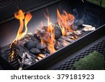 Opened Grill With Fire
