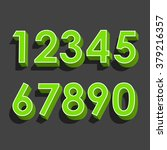 set of vector numbers  from 1... | Shutterstock .eps vector #379216357