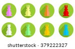 colorful easter bunnies | Shutterstock .eps vector #379222327