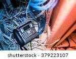 an internet phone  in data... | Shutterstock . vector #379223107