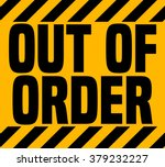 out of order sign  vector... | Shutterstock .eps vector #379232227
