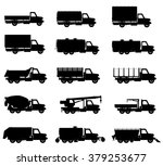 set icons trucks semi trailer... | Shutterstock .eps vector #379253677