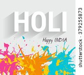 indian festival of colours... | Shutterstock .eps vector #379255873