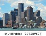 Stock photo boston skyline boston skyline summer 379289677