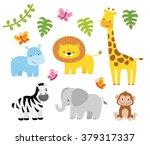 jungle animals vector set | Shutterstock .eps vector #379317337
