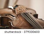 Detail Closeup Of A Violin