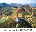 lung cu flag tower from drone...   Shutterstock . vector #379340137
