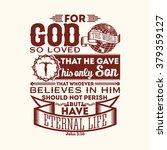 bible typographic. for god so... | Shutterstock .eps vector #379359127
