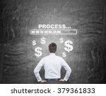 a businessman with hands on... | Shutterstock . vector #379361833