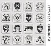 classic guns emblem    Shutterstock .eps vector #379371187