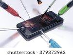 black smart phone during repair.... | Shutterstock . vector #379372963