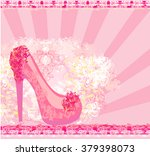 floral shoes poster    Shutterstock . vector #379398073