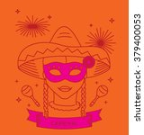 carnival costume outfit. party... | Shutterstock .eps vector #379400053