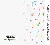 vector music background with... | Shutterstock .eps vector #379408897